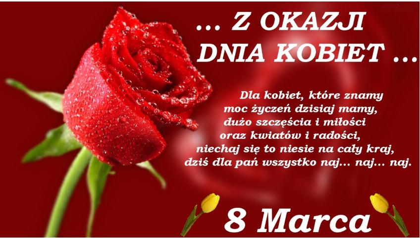 Z okazji Dnia Kobiet od Samorządu Uczniowskiego