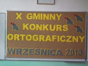 X Gminny Konkurs Ortograficzny