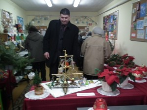 Wystawa świąteczna w bibliotece