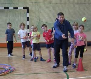 Zajęcia sportowe w ramach prgramu Mały Mistrz